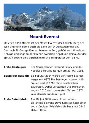 höchste berge der welt liste